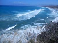 golfo e mare molto mosso - panorama dalla periferia ovest della città - 27 agosto 2012  - Castellammare del golfo (273 clic)