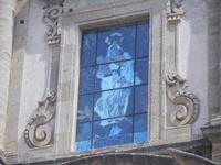 Basilica Madonna del Soccorso - particolare della facciata - 6 settembre 2012  - Sciacca (779 clic)