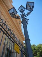 facciata e lampione - Chiesa del SS. Crocifisso - 15 agosto 2012  - Calatafimi segesta (358 clic)