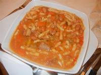 zuppa di fagioli con busiate, carne, salsiccia e verdure Busith - 12 febbraio 2012  - Buseto palizzolo (990 clic)