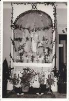 il simulacro della Madonna in casa - anni 60 del '900  - Alcamo (2079 clic)