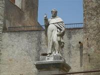 statua del Beato Alberto dinanzi la Chiesa Parrocchiale di San Giuliano  - 5 agosto 2012  - Erice (734 clic)