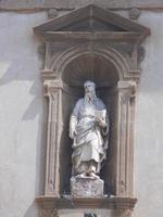Basilica Madonna del Soccorso - particolare della facciata - 6 settembre 2012  - Sciacca (294 clic)