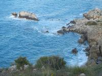 Cala Bianca - scogli - 14 aprile 2012  - Castellammare del golfo (394 clic)