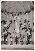 il simulacro della Madonna in casa - anni 60 del '900  - Alcamo (2421 clic)