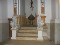 Chiesa Madre di Sant'Anna - fonte battesimale - 3 luglio 2012  - Balestrate (1051 clic)