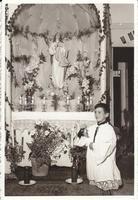 il simulacro della Madonna in casa - anni 60 del '900  - Alcamo (2615 clic)