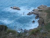 Cala Bianca - scogli - 14 aprile 2012  - Castellammare del golfo (816 clic)