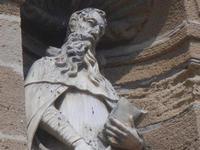 Basilica Madonna del Soccorso - particolare della facciata - 6 settembre 2012  - Sciacca (1031 clic)