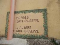 cartello dell'Altare di San Giuseppe - La Vita nella Devozione - Ceto dei Borgesi di San Giuseppe - 22 aprile 2012  - Calatafimi segesta (439 clic)