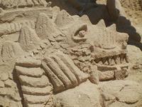 castelli di sabbia - sculture sulla sabbia di Iannini Antonio, scultore napoletano sanvitese - 18 agosto 2012  - San vito lo capo (873 clic)