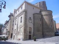 Duomo Madonna del Soccorso - retro e facciata laterale - 6 settembre 2012  - Sciacca (832 clic)