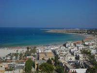panorama dalla collina - scorcio della città, spiaggia e mare - 18 agosto 2012  - San vito lo capo (224 clic)