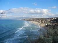 Golfo di Castellammare e Spiaggia Plaja - panorama dalla periferia est della città - 17 gennaio 2012   - Castellammare del golfo (356 clic)