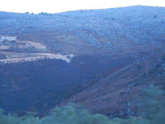 panorama con terre bruciate da incendio - CASTELLUZZO - inserita il 23-Oct-15