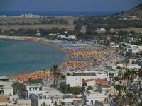 panorama dalla collina - scorcio della città, spiaggia e mare - 18 agosto 2012  - San vito lo capo (252 clic)