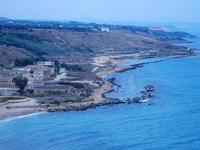 fornace e panorama costiero dal Belvedere - 6 settembre 2012  - Sciacca (1718 clic)