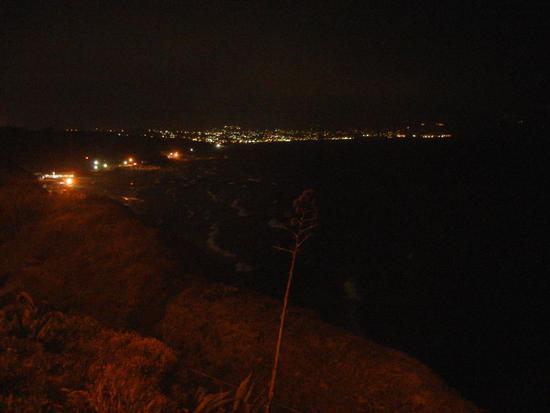 panorama notturno del Golfo di Castellammare - BALESTRATE - inserita il 08-Apr-15