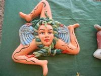 simbolo della Sicilia in ceramica - 5 agosto 2012  - Erice (398 clic)