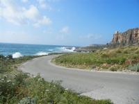panorama costiero e mare in tempesta - 8 aprile 2012  - Macari (532 clic)