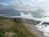 Golfo del Cofano e mare in tempesta - 8 aprile 2012  - Macari (714 clic)