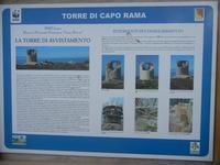 Torre di Capo Rama - cartello del WWF - 15 aprile 2012  - Terrasini (727 clic)