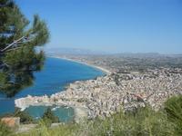 panorama città e golfo dal Monte Inici - 6 maggio 2012  - Castellammare del golfo (374 clic)