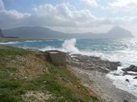 Golfo del Cofano e mare in tempesta - 8 aprile 2012  - Macari (449 clic)