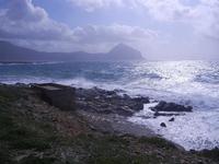 Golfo del Cofano e mare in tempesta - 8 aprile 2012  - Macari (451 clic)