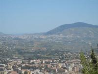 panorama città, entroterra, Alcamo e Monte Bonifato dal Monte Inici - 6 maggio 2012  - Castellammare del golfo (412 clic)