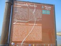 Imbarcadero Storico per l'Isola di Mozia  - cartello turistico - 9 settembre 2012  - Marsala (439 clic)