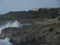panorama costiero e mare in tempesta - 8 aprile 2012  - Macari (765 clic)