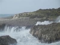 panorama costiero e mare in tempesta - 8 aprile 2012  - Macari (491 clic)