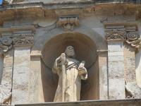 particolare della facciata - Chiesa dei SS. Paolo e Bartolomeo in Corso 6 Aprile - 2 giugno 2012  - Alcamo (1388 clic)