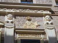 Palazzo S. Giacomo Tagliavia - particolari architettonici - 6 settembre 2012  - Sciacca (350 clic)