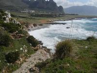 Golfo del Cofano e mare in tempesta - 8 aprile 2012  - Macari (708 clic)