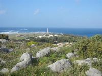 faro - panorama dalla collina ad ovest della città - 8 aprile 2012  - San vito lo capo (436 clic)
