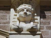 Palazzo S. Giacomo Tagliavia - particolari architettonici - 6 settembre 2012  - Sciacca (523 clic)