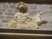 Palazzo S. Giacomo Tagliavia - particolari architettonici - 6 settembre 2012  - Sciacca (430 clic)