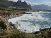 Golfo del Cofano e mare in tempesta - 8 aprile 2012  - Macari (454 clic)