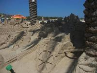 castelli di sabbia - sculture sulla sabbia di Iannini Antonio, scultore napoletano sanvitese - 18 agosto 2012  - San vito lo capo (337 clic)