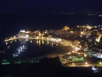 panorama notturno porto e Castello a Mare - 31 marzo 2012  - Castellammare del golfo (333 clic)