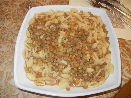 gnocchetto sardo fresco con zuppa di verdure e lenticchie - SANTA NINFA - inserita il 03-Apr-14