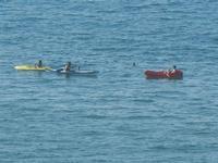 Zona Plaja - panorama sul mare e canoe - 1 luglio 2012  - Alcamo marina (302 clic)