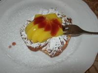 zeppola alla crema d'arancia e marmellata di fragole - Due Palme - 20 maggio 2012  - Santa ninfa (838 clic)