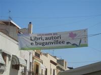 striscione in via Savoia  Libri, autori e buganvillee - 12 agosto 2012  - San vito lo capo (303 clic)