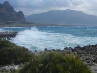 mare in tempesta all'Isulidda - 8 aprile 2012  - Macari (702 clic)