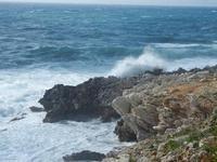 panorama costiero e mare in tempesta - 8 aprile 2012  - Macari (751 clic)