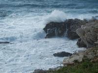 panorama costiero e mare in tempesta - 8 aprile 2012  - Macari (613 clic)