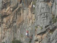 free climbing - falesia nei pressi dell'Isulidda - 8 aprile 2012  - Macari (1288 clic)